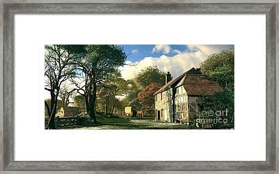 Pastoral Homestead Framed Print by Dominic Davison
