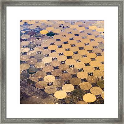 Patchworks. Aerial View To Texas's Fields Framed Print
