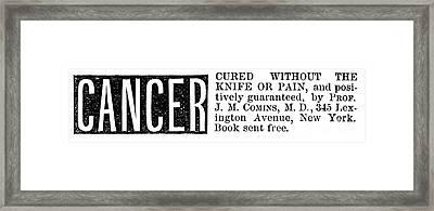 Patent Medicine, 1876 Framed Print