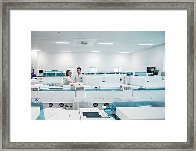 Pathology Laboratory Framed Print
