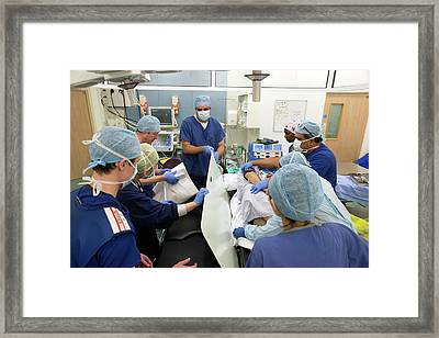 Patient Transfer Following Surgery Framed Print