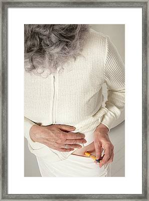 Patient Using An Autoinjector Framed Print