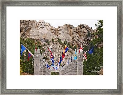 Framed Print featuring the photograph Patriotic Faces by Mary Carol Story