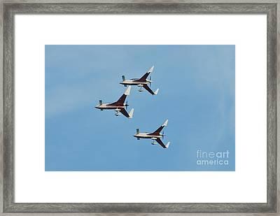 Patrouille Reva Display Team Framed Print by David Fowler