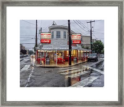 Pat's Steaks Framed Print