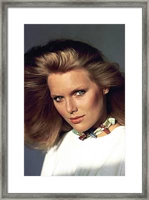 Patti Hansen Wearing Max Factor Make-up Framed Print by Arthur Elgort