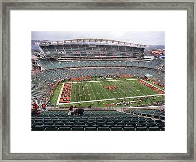 Paul Brown Stadium Framed Print by Dan Sproul