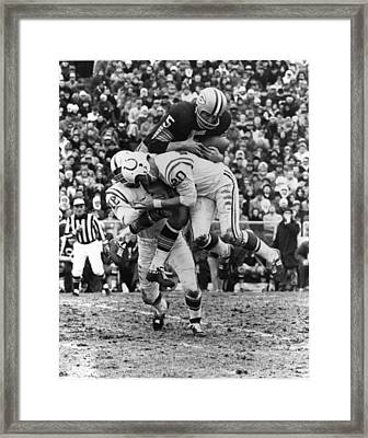 Paul Hornung Poster Framed Print by Gianfranco Weiss