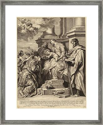 Paulus Pontius, After Sir Anthony Van Dyck Flemish Framed Print by Quint Lox