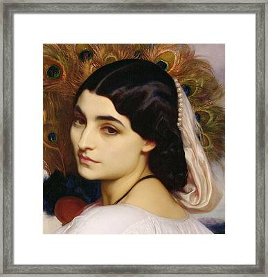 Pavonia, 1859 Framed Print by Frederic Leighton