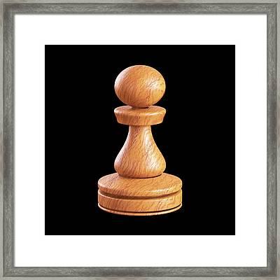 Pawn Chess Piece Framed Print by Ktsdesign