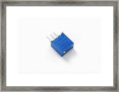 Pcb Potentiometer Framed Print