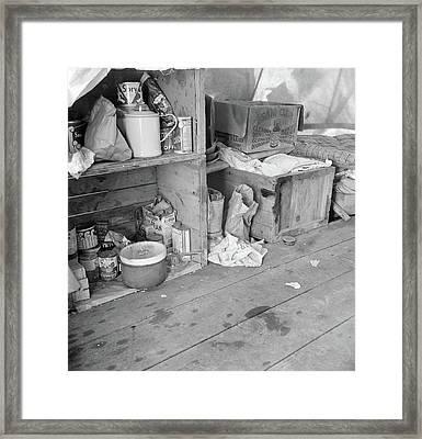 Pea Picker's Camp, 1939 Framed Print by Granger