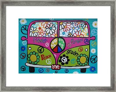 Peace Love Dub Framed Print by Carol Hamby