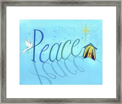 Peace Framed Print by P.s. Art Studios