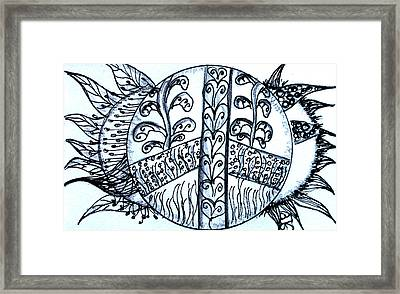 Peace Sun Flower Framed Print