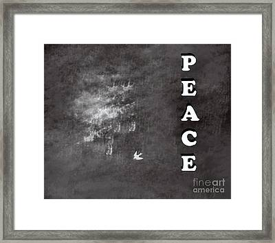 Peace Framed Print by Trilby Cole