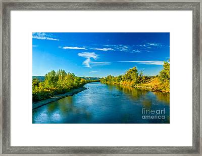 Peaceful Payette River Framed Print by Robert Bales
