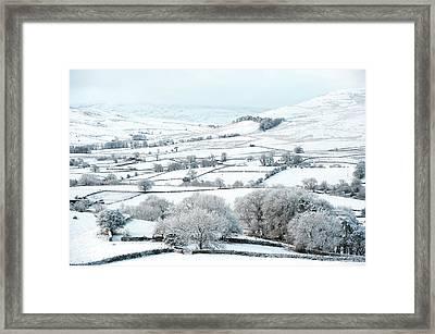 Peaceful Snow Scene In The Howgills Framed Print