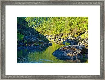 Framed Print featuring the photograph Peaceful Waters by Sherri Meyer