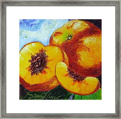 Peaches Framed Print by Paris Wyatt Llanso