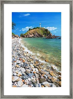 Pebble Beach Framed Print by Atiketta Sangasaeng