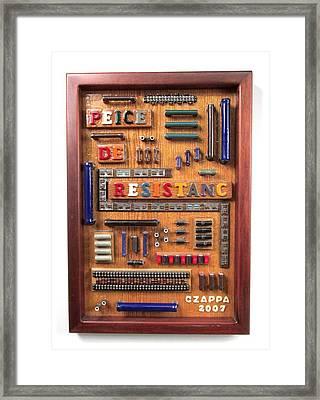 Peice De Resistanc Framed Print by Bill Czappa