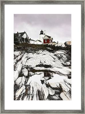 Pemaquid Lighthouse In Bristol Maine Framed Print