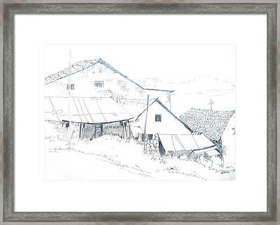 Pencil Drawing Framed Print by Rejeena Niaz