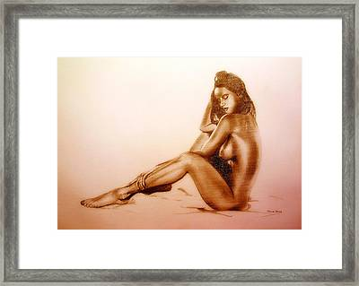 Pencil Nude Framed Print