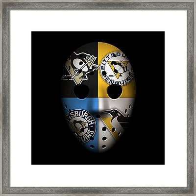 Penguins Goalie Mask Framed Print