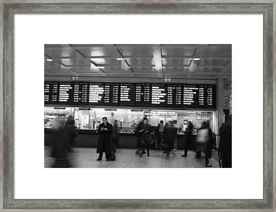 Framed Print featuring the photograph Penn Station by Steven Macanka