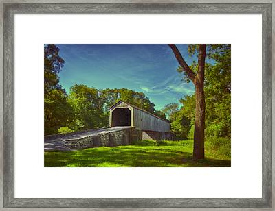 Pennsylvania Covered Bridge Framed Print by Phil Abrams