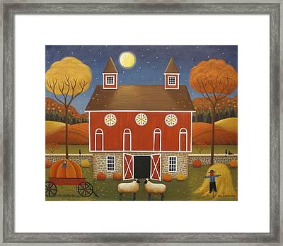 Pennsylvania Dutch Hex Barn Framed Print by Mary Charles