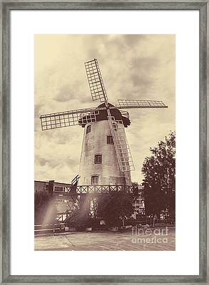 Penny Royal Windmill In Launceston Tasmania  Framed Print by Jorgo Photography - Wall Art Gallery