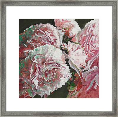 Peonies Framed Print by Helen White