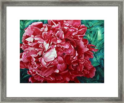 Peony Puzzle Framed Print