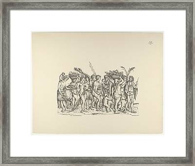 People From Calicut, From The Triumphal Framed Print by Hans Burgkmair