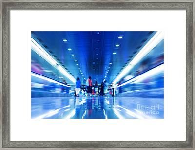 People Rush In Subway Framed Print by Michal Bednarek