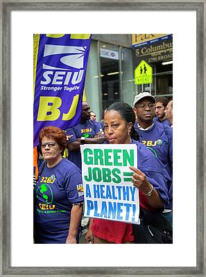 People's Climate March Framed Print by Jim West