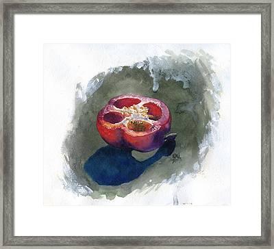 Pepper Framed Print by Ken Meyer jr