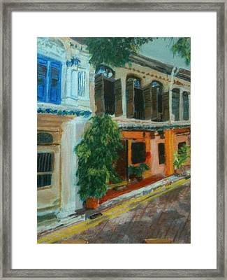 Framed Print featuring the painting Peranakan House by Belinda Low