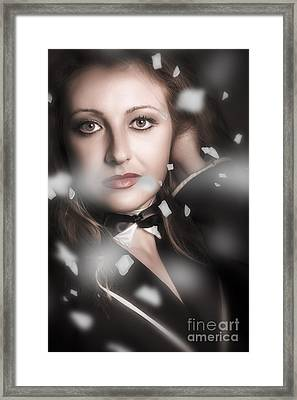 Performing Arts Woman. Romantic Stage Performance Framed Print