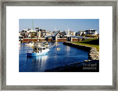 Perkin's Cove Framed Print by Jim  Calarese