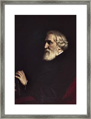 Perov, Vasily 1833-1882. Portrait Framed Print by Everett