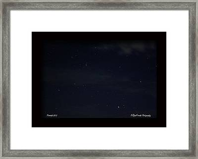 Perseid Meteor Framed Print by PJQandFriends Photography
