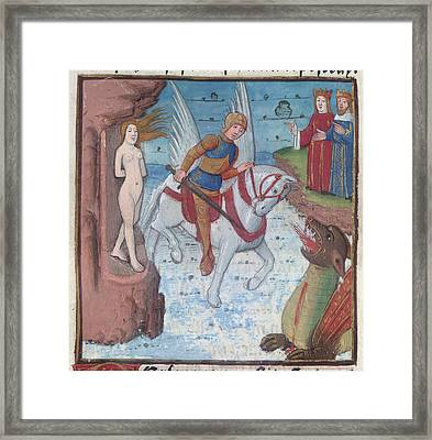 Perseus And Andromeda Framed Print by British Library
