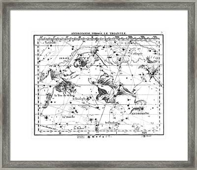 Perseus, Andromeda And Triangulum, 1729 Framed Print by U.S. Naval Observatory Library