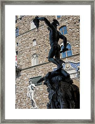 Perseus By Cellini Framed Print by Melany Sarafis