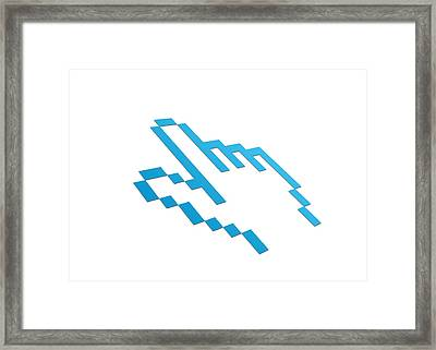 Perspective Computer Cursor Framed Print by Aged Pixel